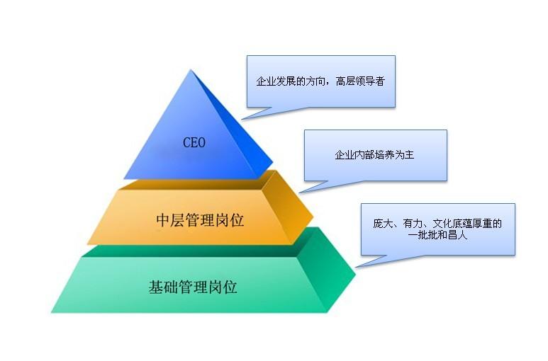 金子塔式组织结构